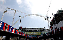 A general view of Wembley Way before the match begins