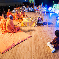 Hindu devotees celebrate Swaminarayan Jayanti at Neasden Temple in London. The ceremony culminates with the arti at 10.10pm, signifying the precise time Bhagwan Swaminarayan chose to be born to mother Bhaktimata in the small north Indian village of Chhapaiya.