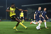 Lucas Akin shoot at goal during the EFL Sky Bet League 1 match between Burton Albion and Southend United at the Pirelli Stadium, Burton upon Trent, England on 3 December 2019.