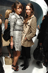 Left to right, CAROLINE SIEBER and FRAN HICKMAN at a party hosted by PPQ of Mayfair at the Fiat Flagship Store, 105 Wigmore Street, London W1 on 11th February 2008.<br />