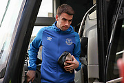 Everton defender Seamus Coleman (23) arrives off the club coach during the The FA Cup fourth round match between Millwall and Everton at The Den, London, England on 26 January 2019.