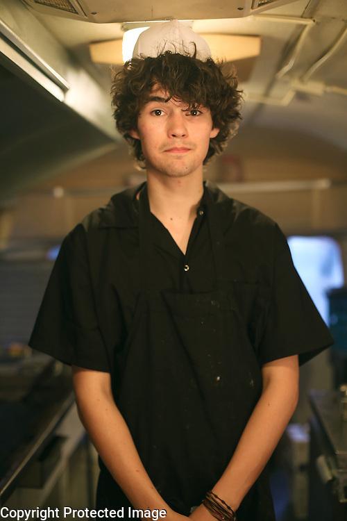 Cullum's ATTABOY food truck employee Stefan Scott, 18,