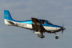 Cirrus SR20 (N413PT) on approach to Palo Alto Airport (KPAO), Palo Alto, California, United States of America