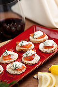 Salmon And Goat Cheese Appetizers