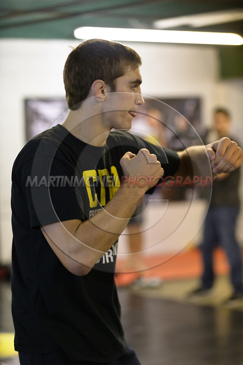 """NOTTINGHAM, ENGLAND, SEPTEMBER 26, 2012: John Hathaway attends the open work-out sessions ahead of """"UFC on Fuel TV 5: Struve vs. Miocic"""" inside Gym Combat in Nottingham, United Kingdom on Wednesday, September 26, 2012 © Martin McNeil"""