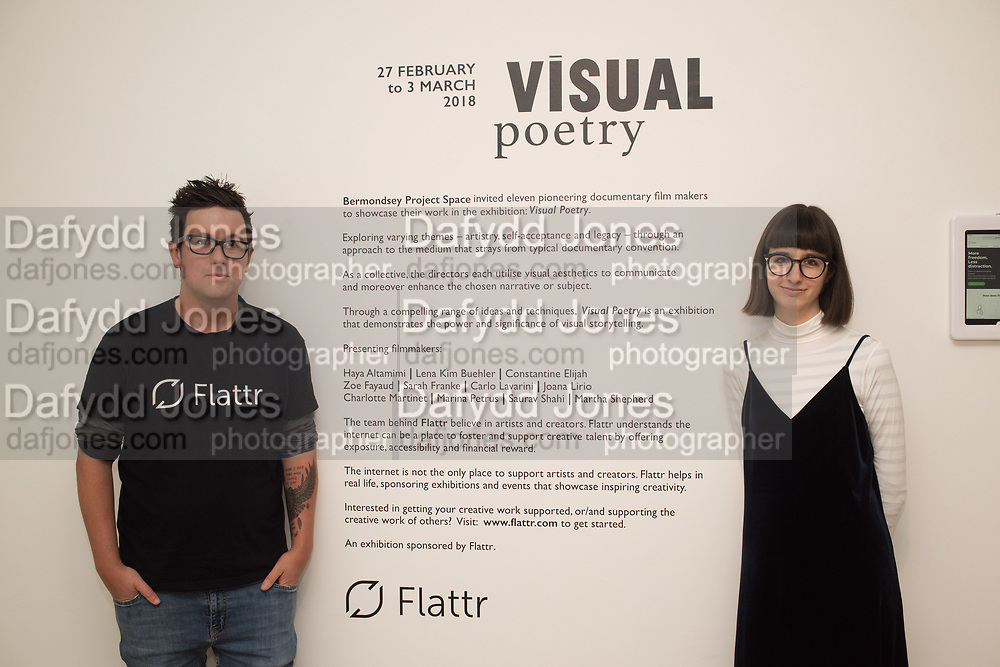 VISUAL POETRY | SHORT FILM SHOWCASE BY BPS AND FLATTR, Visual Poetrey, Film Showcase bu Eleven Pioneering LCC MA Documentary Film students. Bermondsey Project Space, London. 28 February 2018