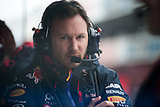 February 19-22, 2015: Formula 1 Pre-season testing Barcelona : Christian Horner, team principal of Red Bull Racing