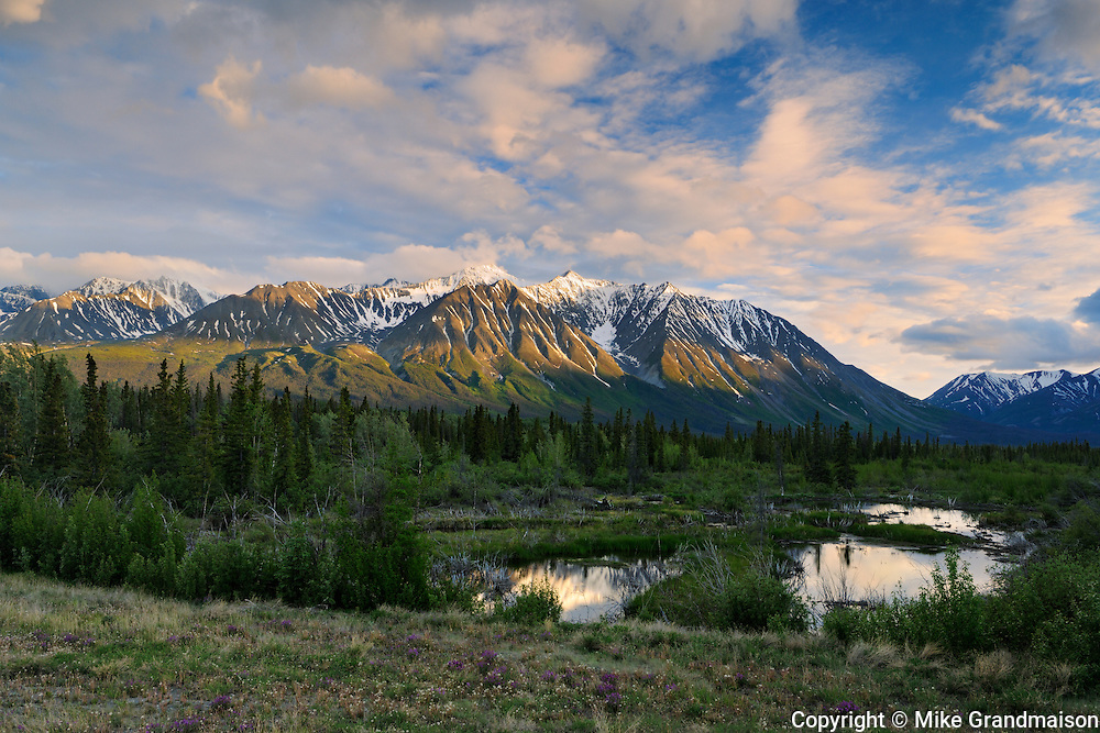 St. Elias Mountains<br /> near Haines Junction<br /> Yukon<br /> Canada
