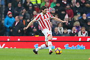 Stoke City midfielder Joe Allen (4) during the Premier League match between Stoke City and Manchester United at the Britannia Stadium, Stoke-on-Trent, England on 21 January 2017. Photo by Phil Duncan.