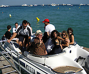 **EXCLUSIVE**.Bono and Penelope Cruz after lunch at Club 55 Restaurant in St. Tropez, France..Thursday, July 26, 2007.Photo By Celebrityvibe.com.To license this image please call (212) 410 5354; or.Email: celebrityvibe@gmail.com ;.