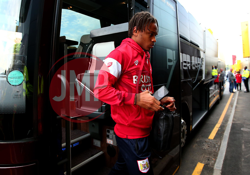 Bobby Reid of Bristol City arrives at Vicarage Road for his side's Carabao Cup Match against Watford - Mandatory by-line: Robbie Stephenson/JMP - 22/08/2017 - FOOTBALL - Vicarage Road - Watford, England - Watford v Bristol City - Carabao Cup