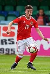 RHYL, WALES - Monday, September 4, 2017: Wales' Kieran Holsgrove during an Under-19 international friendly match between Wales and Iceland at Belle Vue. (Pic by Paul Greenwood/Propaganda)