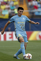 September 14, 2017 - Villarreal, Spain - 15 Abzal Beysebekov of Football Club Astana   during the UEFA Europa League Group A football match between Villarreal CF vs FC Astana  at La Ceramica stadium in Villarreal  on September 14, 2017. (Credit Image: © Jose Miguel Fernandez/NurPhoto via ZUMA Press)