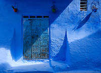 CHEFCHAOUEN, MOROCCO - CIRCA APRIL 2017: Typical door of the streets of Chefchaouen