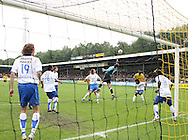 27-05-2007: Voetbal: VVV Venlo - RKC Waalwijk: Venlo<br /> RKC Waalwijk is gedegradeerd naar de Jupiler League.<br /> Doelman Erwin Lemmens kan net bij de bal, terwijl Tim Janssen op de doellijn de goal bewaakt<br /> foto : Geert van Erven