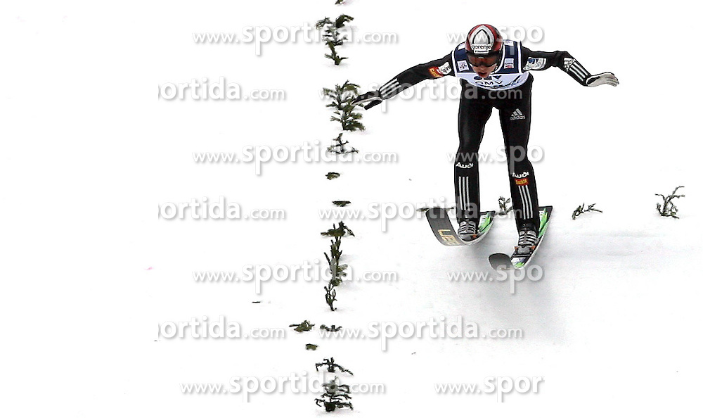 Jernej Damjan (SLO) at Qualification's 1st day of 32nd World Cup Competition of FIS World Cup Ski Jumping Final in Planica, Slovenia, on March 19, 2009. (Photo by Vid Ponikvar / Sportida)