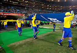 27.06.2010, Soccer City Stadium, Johannesburg, RSA, FIFA WM 2010, Argentina (ARG) vs Mexico (MEX), im Bild FIFA flag during the 2010 FIFA World Cup South Africa. EXPA Pictures © 2010, PhotoCredit: EXPA/ Sportida/ Vid Ponikvar +++ Slovenia OUT +++