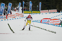 Matej Kazar (SVK) competes in the World Cup Biathlon men's Sprint Competition on March 13, 2009