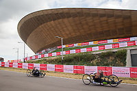 LONDON UK 29TH JULY 2016:  Gary Donald (GBR). Prudential RideLondon Handcycle Grand Prix at the London Velo Park. Prudential RideLondon in London 29th July 2016<br /> <br /> Photo: Jed Leicester/Silverhub for Prudential RideLondon<br /> <br /> Prudential RideLondon is the world&rsquo;s greatest festival of cycling, involving 95,000+ cyclists &ndash; from Olympic champions to a free family fun ride - riding in events over closed roads in London and Surrey over the weekend of 29th to 31st July 2016. <br /> <br /> See www.PrudentialRideLondon.co.uk for more.<br /> <br /> For further information: media@londonmarathonevents.co.uk