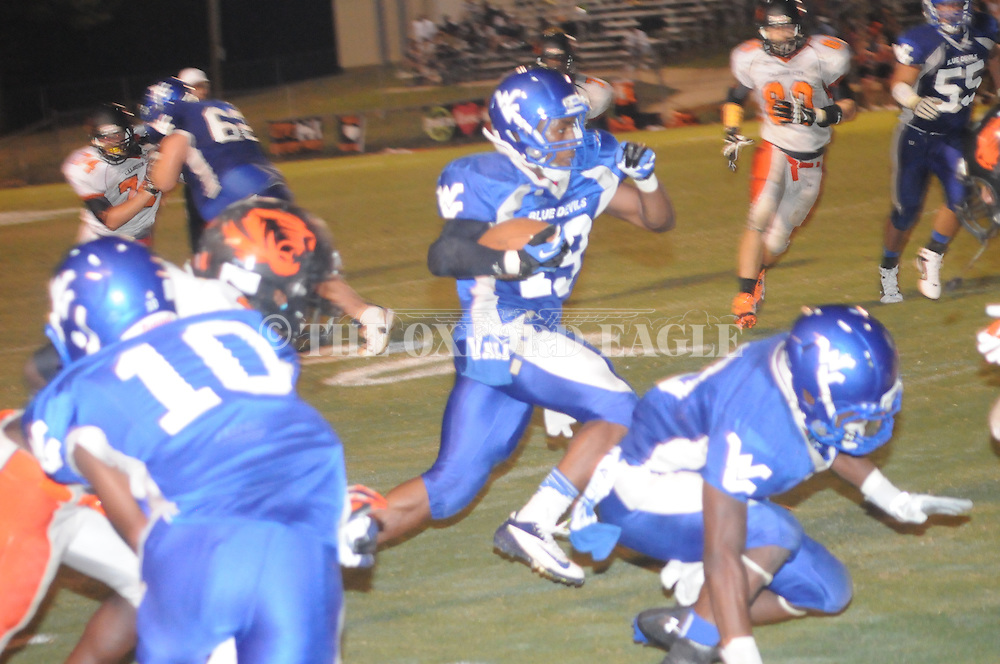 Water Valley's D.J. Spearman (23) vs. Calhoun City in Water Valley, Miss. on Friday, September 6, 2013. Water Valley won 42-6.