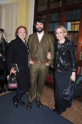 Left to right, CAMILLA LOWTHER, BAY GARNETT and TOM CRAIG at the Vogue Festival 2012 in association with Vertu held at the Royal Geographical Society, London on 20th April 2012.