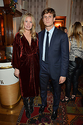 LONDON, ENGLAND 1 DECEMBER 2016:  Marissa Montgomery, Charles Forte at the Smythson & Brown's Hotel Christmas Party held at Brown's Hotel, Albemarle St, Mayfair, London, England. 1 December 2016.