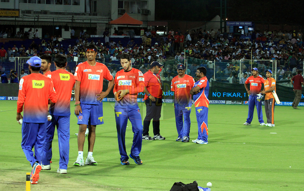 Delhi Daredevils owner Kiran Gandhi with team players during match 23 of the Pepsi Indian Premier League Season 2014 between the Delhi Daredevils and the Rajasthan Royals held at the Feroze Shah Kotla cricket stadium, Delhi, India on the 3rd May  2014<br /> <br /> Photo by Arjun Panwar / IPL / SPORTZPICS<br /> <br /> <br /> <br /> Image use subject to terms and conditions which can be found here:  http://sportzpics.photoshelter.com/gallery/Pepsi-IPL-Image-terms-and-conditions/G00004VW1IVJ.gB0/C0000TScjhBM6ikg