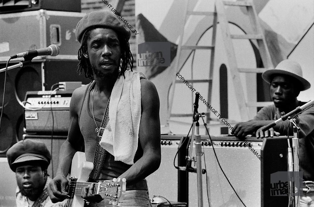 Peter Tosh during sound check at Reggae Sunsplash - 1978
