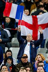 England fans before kick off - Mandatory byline: Rogan Thomson/JMP - 19/03/2016 - RUGBY UNION - Stade de France - Paris, France - France v England - RBS 6 Nations 2016.