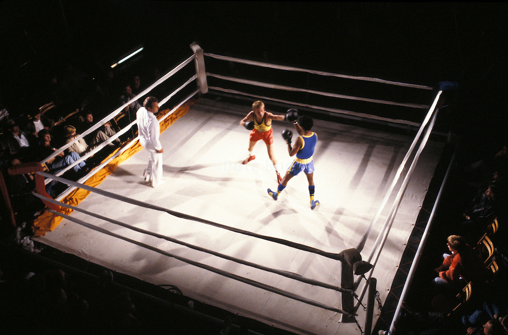 2 boys in a boxing match