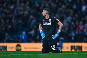 Leeds United goalkeeper Francisco Casilla (13) reacts during the EFL Sky Bet Championship match between Leeds United and Queens Park Rangers at Elland Road, Leeds, England on 2 November 2019.
