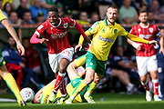 Bristol City forward Jonathan Leko (45), on loan from West Bromwich Albion, in action  during the EFL Sky Bet Championship match between Norwich City and Bristol City at Carrow Road, Norwich, England on 23 September 2017. Photo by Simon Davies.