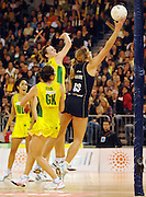 New Zealand goal shooter and game MVP, Irene Van Dyk<br /> International Netball Test Series: <br /> Australia vs New Zealand at the Vodafone Arena<br /> Melbourne, Victoria.  Australia<br /> Saturday 21 July 2007<br /> (AAP Image/Jeff Crow) NO ARCHIVING