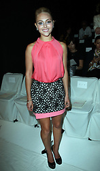 AnnaSophia Robb at the Diane Von Furstenberg show  at  New York Fashion Week  Sunday, 9th September 2012. Photo by: Stephen Lock / i-Images