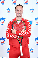 Warsaw, Poland - 2017 December 11: Tennis' trainer coach Radoslaw Szymanik from Poland poses to the picture while Photo Session of Davis Cup Team of Polish Tennis Association at Regent Hotel on December 11, 2017 in Warsaw, Poland.<br /> <br /> Mandatory credit:<br /> Photo by © Adam Nurkiewicz / Mediasport<br /> <br /> Adam Nurkiewicz declares that he has no rights to the image of people at the photographs of his authorship.<br /> <br /> Picture also available in RAW (NEF) or TIFF format on special request.<br /> <br /> Any editorial, commercial or promotional use requires written permission from the author of image.