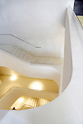 winding staircase inside CaixaForum Madrid by the architects team Herzog and de Meuron