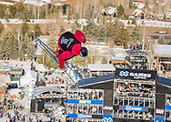 Simon d'Artois won the gold medal in the Men's Ski SuperPipe in the 2015 Aspen X Games.