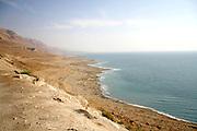 arid dead sea coastline israel