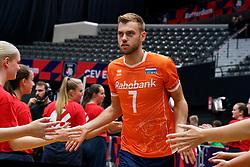 13-09-2019 NED: EC Volleyball 2019 Netherlands - Montenegro, Rotterdam<br /> First round group D Netherlands win 3-0 / Gijs Jorna #7 of Netherlands