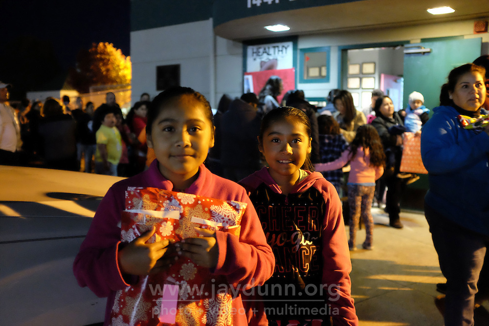 Dani and Gabi Sixto were hapy to attend the toy giveaway on Friday, made possible by the César Chávez Futbol Academy and the Alisal Family Resource Center on Friday.
