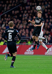 Jonas Svensson #2 of AZ Alkmaar in action during the Dutch Eredivisie match round 25 between Ajax Amsterdam and AZ Alkmaar at the Johan Cruijff Arena on March 01, 2020 in Amsterdam, Netherlands