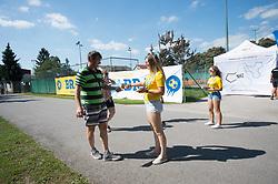 Fan zone prior to the football match between NK Bravo and NK Domzale in 6th Round of Prva liga Telekom Slovenije 2019/20, on August 18, 2019 in Sports park ZAK, Ljubljana, Slovenia. Photo by Anze Petkovsek / Sportida