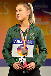 Orla Cromerford, IRE receives her Bronze Medal in the T13 200m at the Berlin 2018 World Para Athletics European Championships