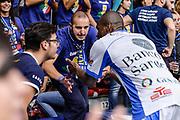 DESCRIZIONE : Campionato 2015/16 Serie A Beko Dinamo Banco di Sardegna Sassari - Umana Reyer Venezia<br /> GIOCATORE : Commando Ultra' Dinamo Brenton Petway<br /> CATEGORIA : Ultras Tifosi Spettatori Pubblico Fair Play Before Pregame<br /> SQUADRA : Dinamo Banco di Sardegna Sassari<br /> EVENTO : LegaBasket Serie A Beko 2015/2016<br /> GARA : Dinamo Banco di Sardegna Sassari - Umana Reyer Venezia<br /> DATA : 01/11/2015<br /> SPORT : Pallacanestro <br /> AUTORE : Agenzia Ciamillo-Castoria/L.Canu