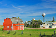 Red barn<br /> Lang<br /> Saskatchewan<br /> Canada