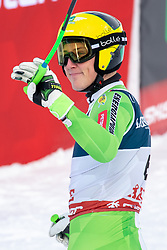 11.02.2019, Aare, SWE, FIS Weltmeisterschaften Ski Alpin, alpine Kombination, Herren, Abfahrt, im Bild Stefan Hadalin (SLO) // Stefan Hadalin of Slovenia reacts after the Downhill competition of the men's alpine combination for the FIS Ski World Championships 2019. Aare, Sweden on 2019/02/11. EXPA Pictures © 2019, PhotoCredit: EXPA/ Dominik Angerer