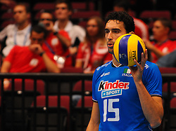 17.09.2011, Stadthalle, Wien, AUT, CEV, Europaeische Volleyball Meisterschaft 2011, Halbfinale, Italien vs Polen, im Bild Emanuele Birarelli, (ITA, #15, Middle-Blocker) // during the european Volleyball Championship Semi Final Italy vs Poland, at Stadthalle, Vienna, 2011-09-17, EXPA Pictures © 2011, PhotoCredit: EXPA/ M. Gruber