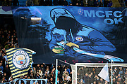 Manchester City banner and flag during the Champions League match between Manchester City and Dinamo Zagreb at the Etihad Stadium, Manchester, England on 1 October 2019.
