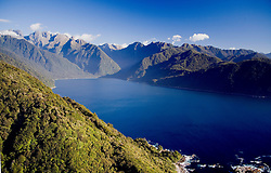Southland District:  Aerial views of Milford Sound in Fiordland National Park.