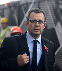 © Licensed to London News Pictures.28/10/2013. London, UK. Andy Coulson, Former Downing Street communications director and News of the World editor arrives the Old Bailey court on October 28, 2013 in London where he faces charges relating to phone hacking scandal. Photo credit : Peter Kollanyi/LNP